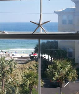 This Top Floor, Corner Unit, 1 BR Condo has never-ending views of the Gulf & 30A! As soon as you walk in your breath is taken away with the panoramic views of the emerald waters and sugary sand. This condo is perfect for couples or small families.