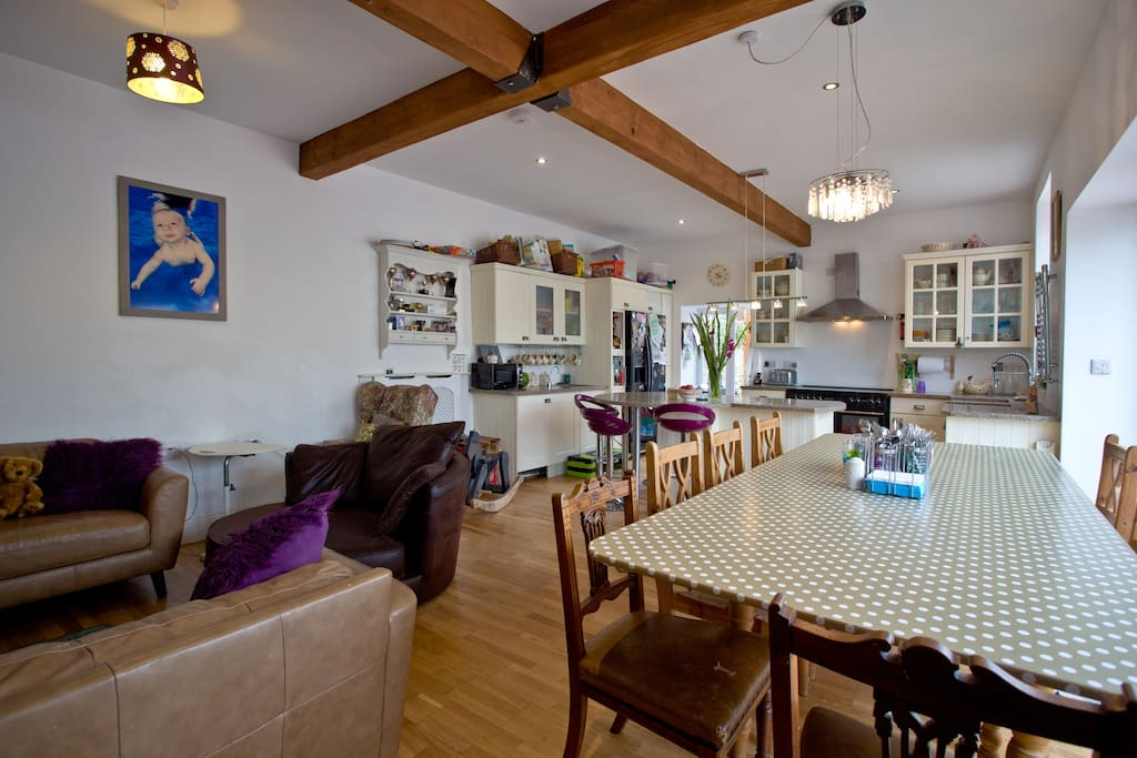 The communal living space