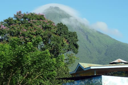 Gaia Zoe Guest House is a very nice property located just 5 minutes drive from La Fortuna downtown in a very private, secure and secluded area; Arenal Volcano is just in front of the property and very nice green areas surrounding the house.