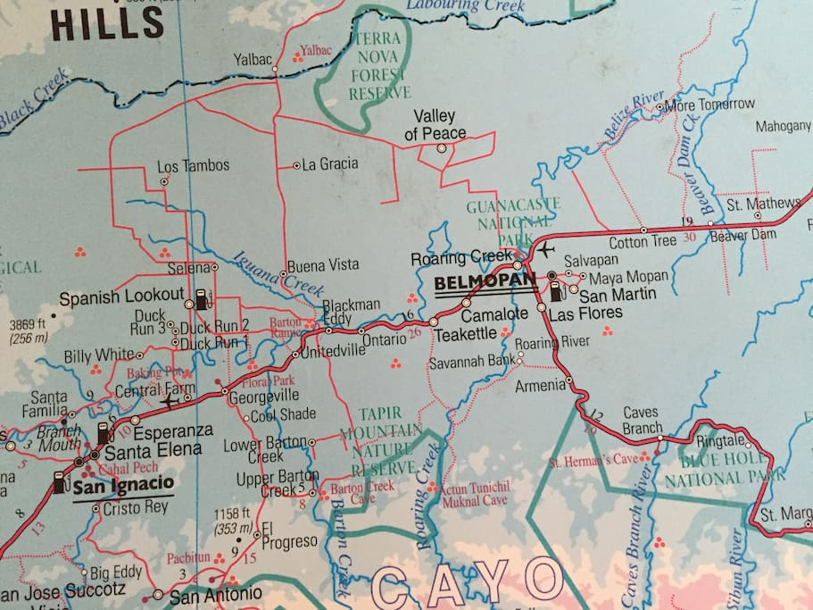 You can see Blackman Eddy Village on this map.
