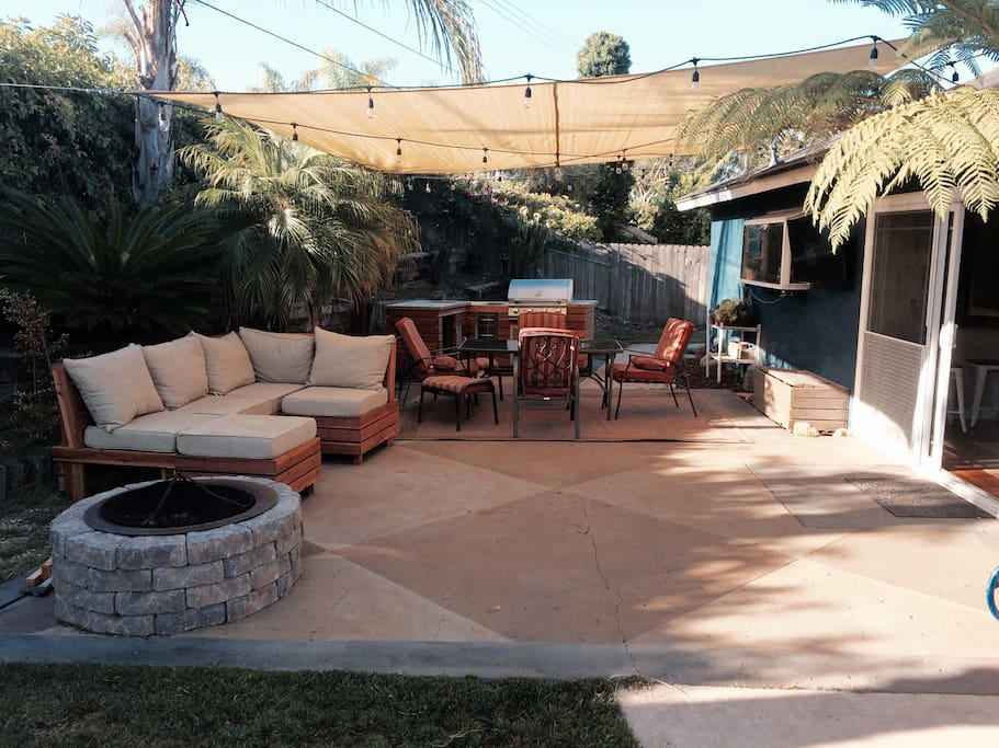 Outdoor living. Great open comfortable patio right off the living room.