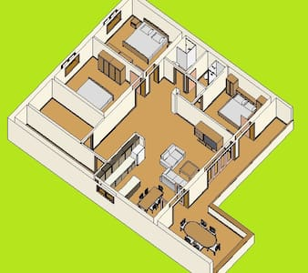 3 bedroom apartment for 6 people - Byt