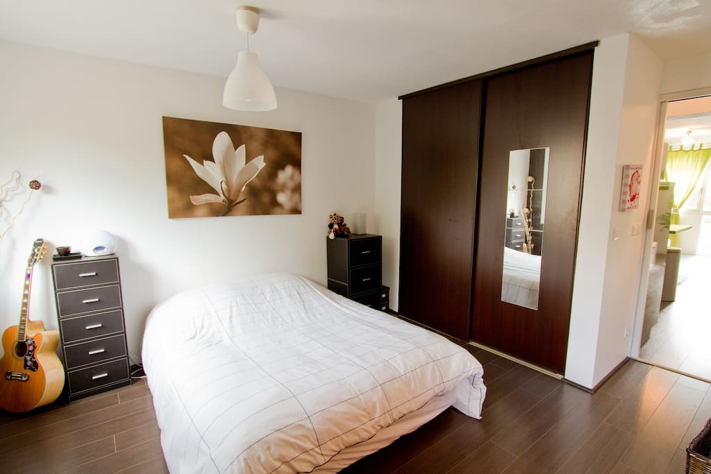 Bedroom with comfy bed and clean linen provided