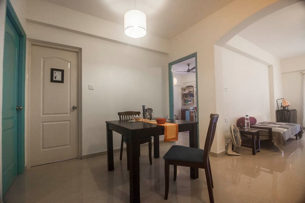 View of the apartment from the main entrance