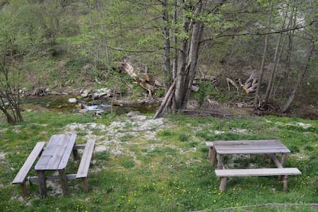 Mini appartamenti in riva al fiume monti SIBILLINI - Maison