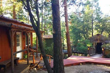 Cozy Lodge & TIKI Treehouse ! - Idyllwild-Pine Cove - 小木屋