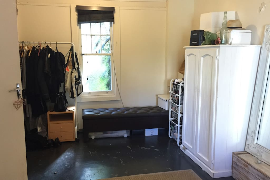 part of the bedroom - one of these wardrobes could be yours while you stay here