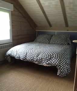 Chambre 3 personnes dans chalet en bois - Biscarrosse - Apartment