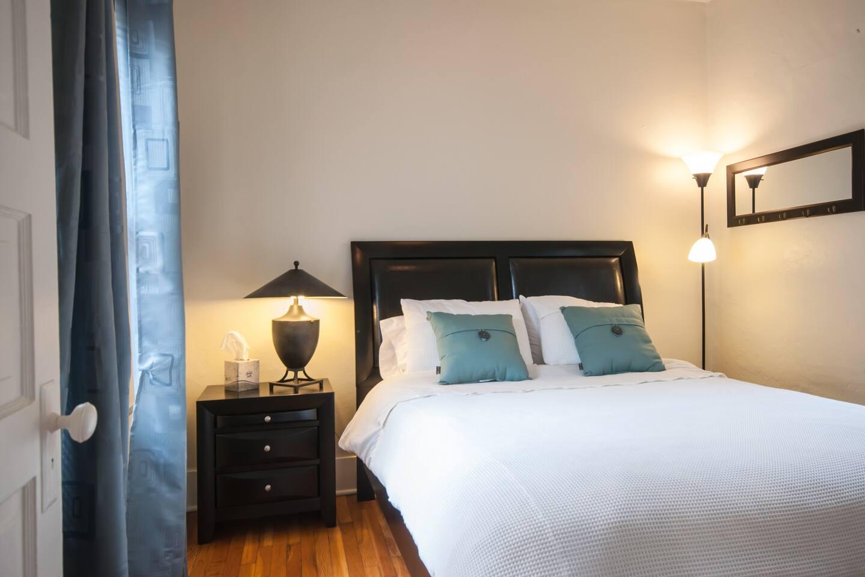 Bedroom--west casita with Englander pillow top mattress