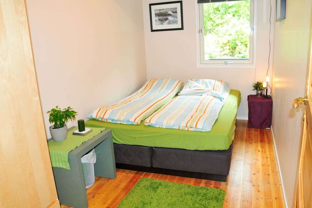 This is the bedroom for airbnb guests. The bed is 150 x 200 and is very comfortable.