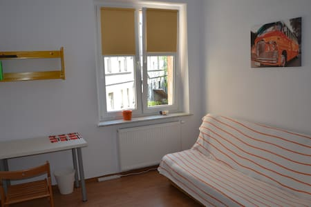 Room type: Private room Bed type: Pull-out Sofa Property type: Apartment Accommodates: 2 Bedrooms: 1 Bathrooms: 0.5