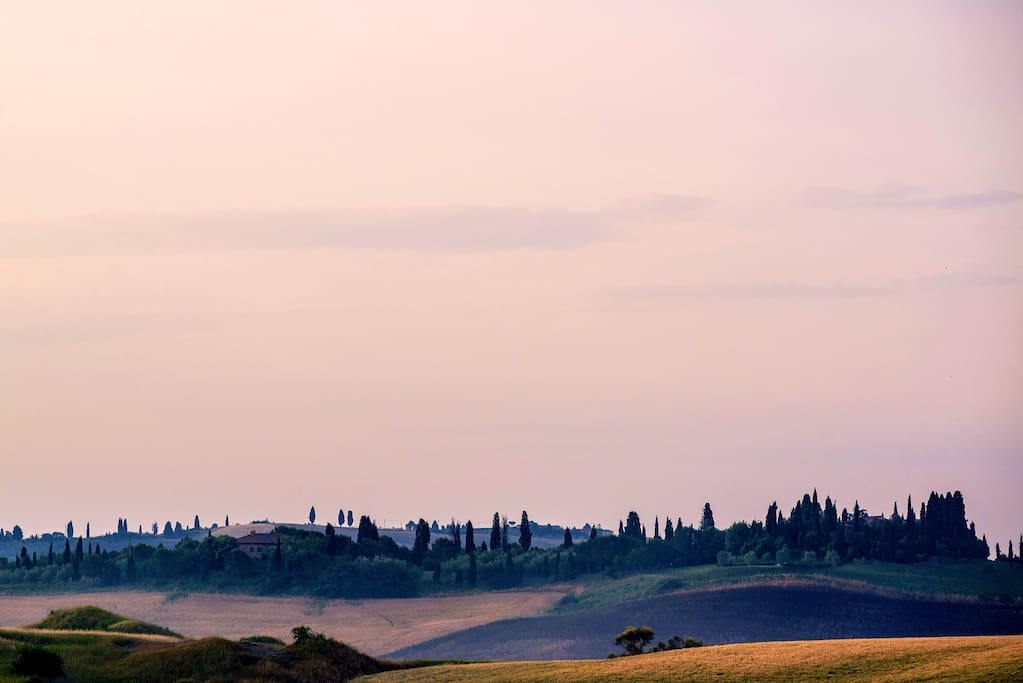 Crete Senesi at the Sun Set