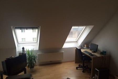 20 m² bright and quiet loft-room.