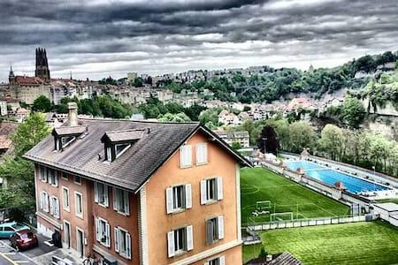 maison rose - Fribourg - Apartament