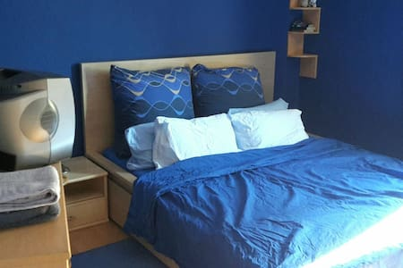 Navy Blue Bedroom - Apartment
