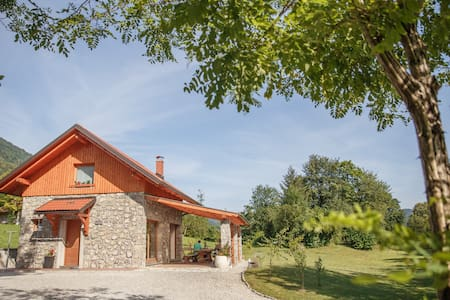 Cottage NA BIRU 2 by the Soca river - House
