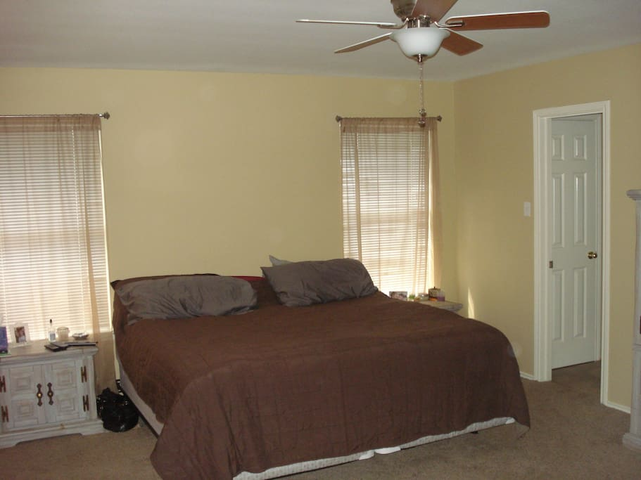 Master bedroom - king size bed and private bathroom