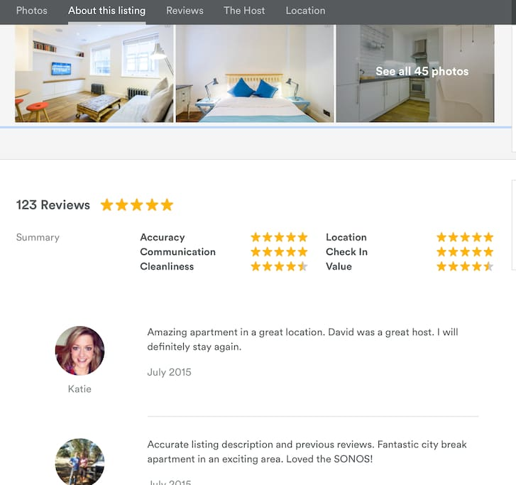 123 ★★★★★ Star Reviews! This apartment has been on AirBNB for 2 years now, and every single person that has stayed has LOVED it.