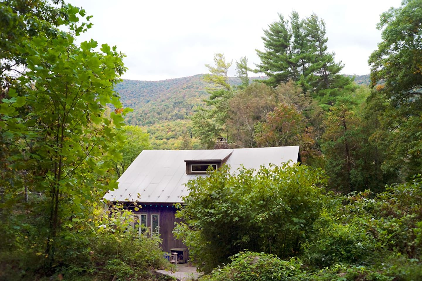 The Rental House with the Esopus Creek Valley and Mount Romer.