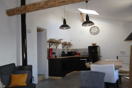 Appt luxueux rénové avec goût, lumineux,poêle bois - Lodève - Apartment