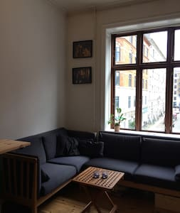 Cosy retro apartment in hipster Vesterbro. - København - Apartment