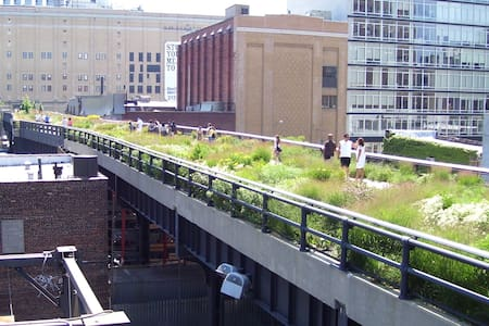 Private queen sized bedroom in two bedroom apartment located steps away from the subway, the High Line, museums (like the Whitney), great night life and restaurants.