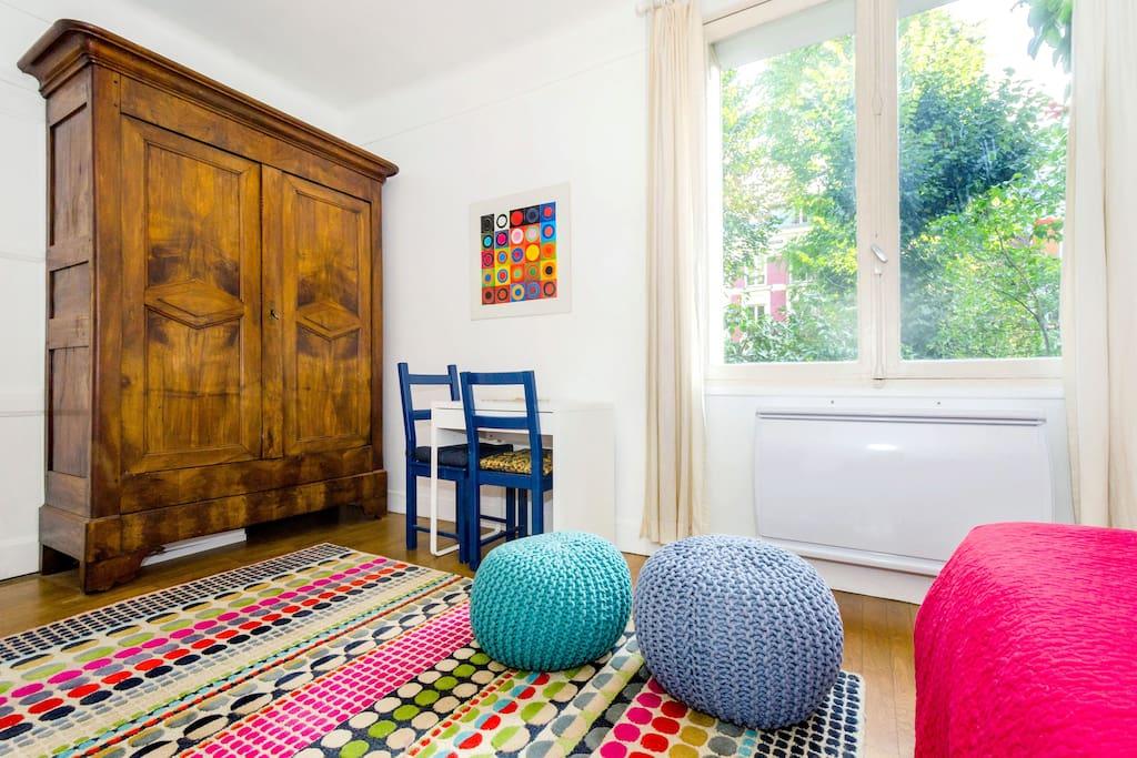 Garden apartment near Montmartre