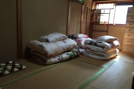 Typical Japanese house with tatami.