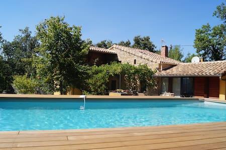 Mas des Lauzes - piscine et nature - Soumont - House