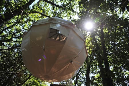 Cocoon Tree Tent for two by the lake - Baumhaus