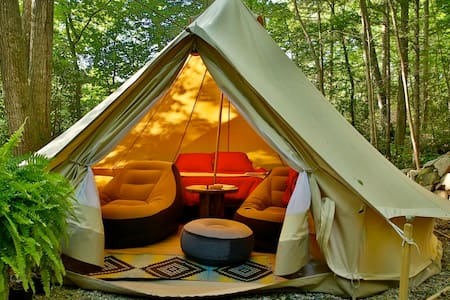 WNC Glamping Tent-Cabin by River #5 - Hendersonville - Barraca