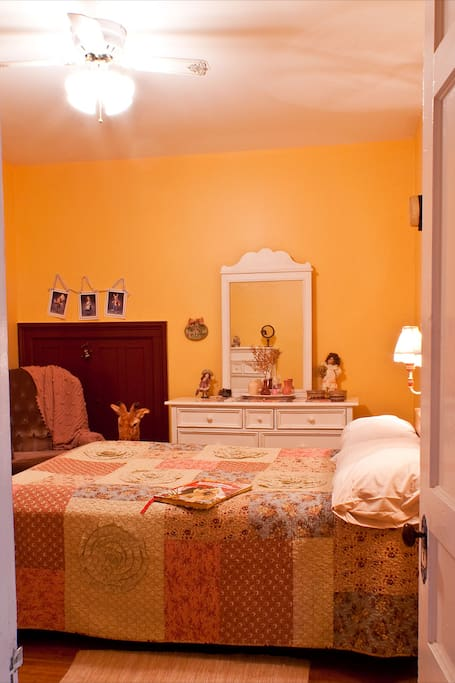 Relax in the cozy charm of the Whimsy Bedroom with full bed.