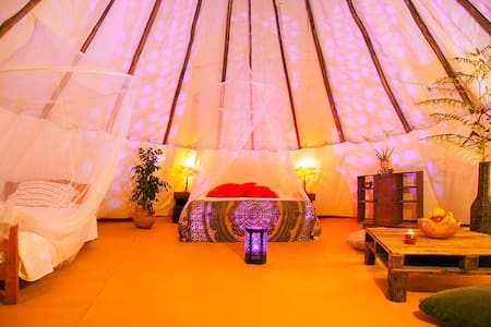Room type: Private room Property type: Tent Accommodates: 4 Bedrooms: 1 Bathrooms: 1