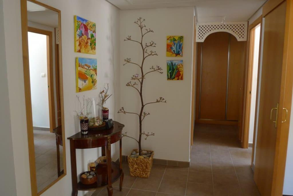 Entrada de la casa, decoración Almeriense