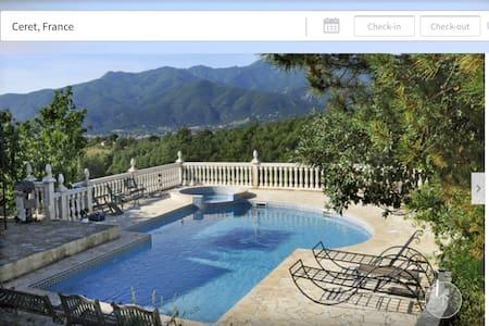 Magnificent Villa. pool. jacuzzi. - Céret