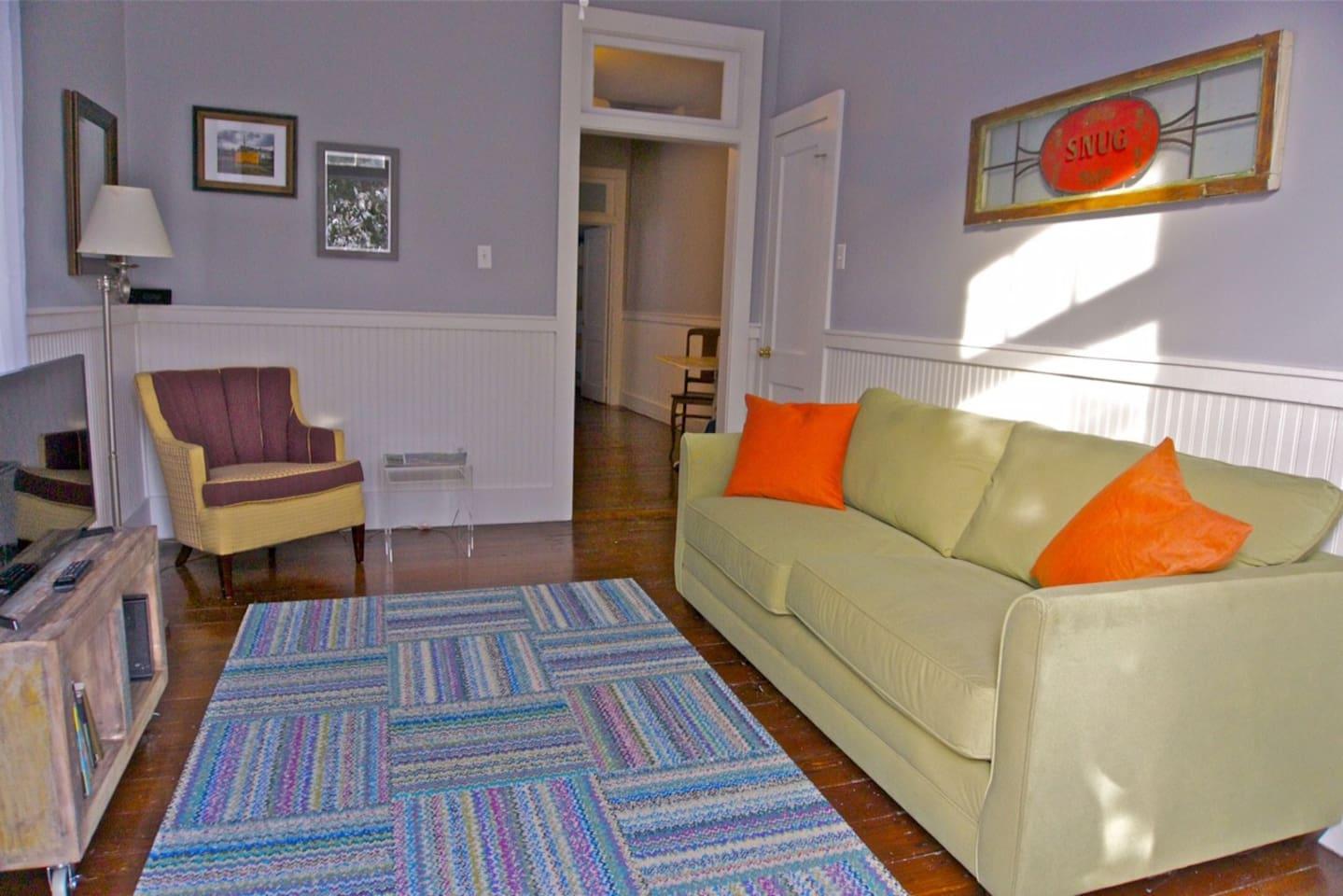 living room, looking towards kitchen