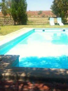 Jardín con piscina - Huis