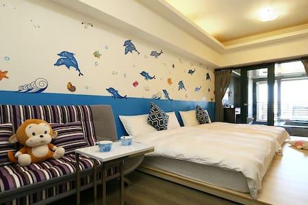 浪漫海洋溫泉湯屋(2-5人) - Jiaoxi Township - 公寓