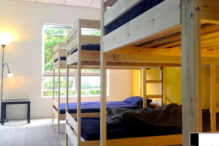 Clean, simple & affordable hostel beds in single open space, 5 minutes walk from Kuah town centre, in Langkawi Island. Selection of restaurants, and shops within 1 minute walking distance on same street. Booking is for 1 bed
