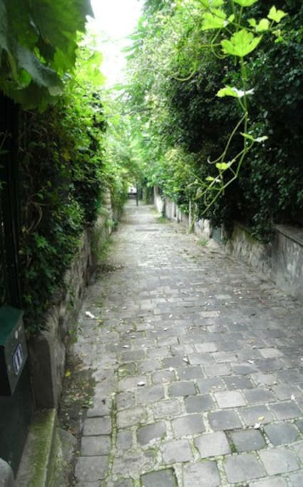 Our private pedestrian street