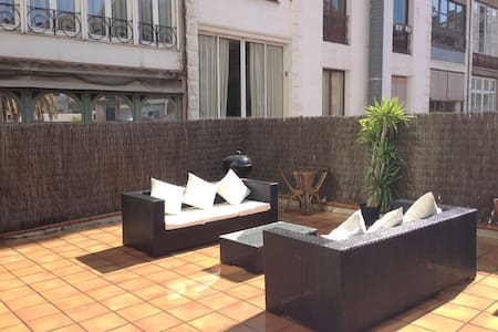 Single room with own bath and beautiful terrace - Barcelona - Lejlighed