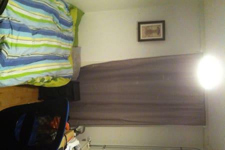 cozy,bright bed room with bathroom