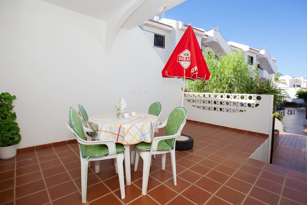 Enjoy the nice terrace all year long. Your dinners outside will be something to remember!