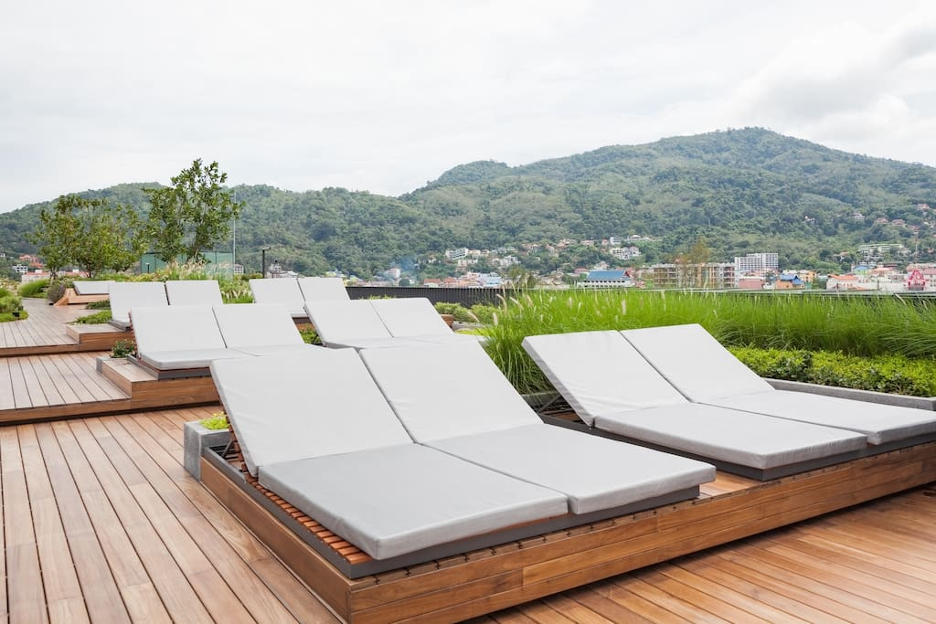 Relax on the rooftop sun lounger
