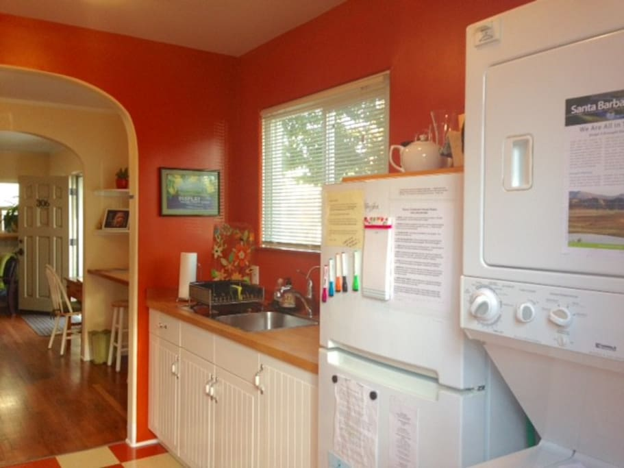 The light in this room is magic.  Come try the orange kitchen - all new, all happy!
