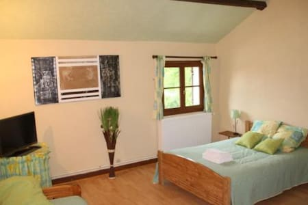 Chambre Double Verte - Perreux - Bed & Breakfast