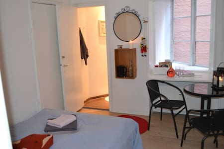 Nice and quiet room in newly remodeled apartment right in the city center of Copenhagen. Access to large private patio/terrace + highspeed WIFI. Wonderful room and great location! As good as it gets! You will have access to your own private toilet.