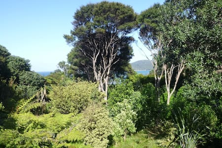 GBI Central: Cosy home with bush and beach beyond - Great Barrier Island