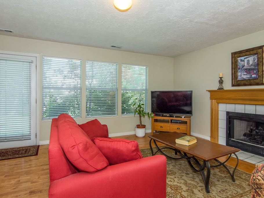 Relax as a family or group in this comfortable family room