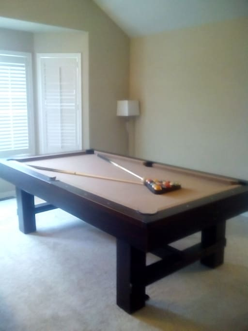 Brand new Pool Table. Prefer Ping Pong or Air Hockey? We've have those too. Entertainment  for everyone